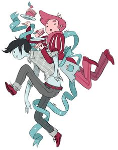 more stuff by Natasha Allegri (Adventure Time alternate Prince Gumball and Marshall Lee)