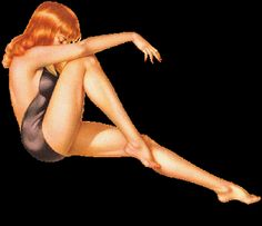 Redhead vintage pin up