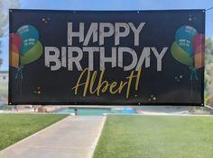 happy heavenly birthday, happy birthday personalized banner Outdoor Birthday, Adult Birthday Party, Personalized Birthday Banners, Happy Birthday Banners, Happy Heavenly Birthday, Outdoor Dinner Parties, First Birthdays, Party Themes, One Year Birthday