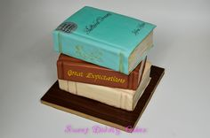 Stack of books cake...Will someone make this for me? :)