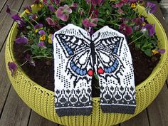 Ravelry: Swallowtail by Natalia Moreva Knitted Mittens Pattern, Knit Mittens, Knitted Gloves, Knitting Socks, Hand Knitting, Knitting Patterns, Knitting Videos, Knitting Projects, Yarn Tail