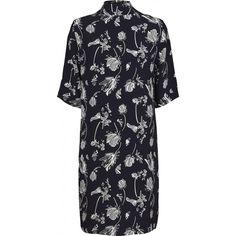 Hamie highneck dress sakura aop
