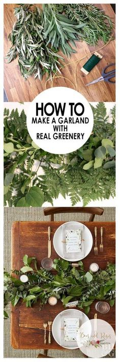 How to Make a Garland With Real Greenery Bees and Roses Garland DIY Garland Holiday Garland Holiday Garland Ideas Greenery Holiday Greenery Christmas Garland