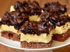 Ciasto czekoladowa śliwka - przyslijprzepis.pl Polish Desserts, Polish Recipes, No Bake Desserts, Baking Recipes, Cake Recipes, Dessert Recipes, Chocolate Ganache Tart, Kolaci I Torte, Cake Bars