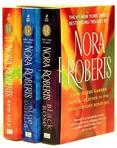 Who doesn't like Nora Roberts? This series is spectacular for a garden lover like me!!! Nora Roberts Books, I Love Books, Great Books, Books To Read, My Books, Book Lists, Book Club Books, Book Nerd, Book Series