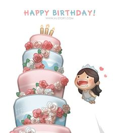 "Check out the comic ""HJ-Story :: Happy Birthday Happy Birthday Messages, Happy Birthday Quotes, Birthday Love, Birthday Greetings, Birthday Stuff, Funny Birthday, Hj Story, Cute Love Stories, Love Story"