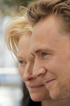 Tom Hiddleston and Tilda Swinton, Cannes photo call for Only Lovers Left Alive.
