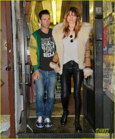adam levine goes shopping with wife behati prinsloo 02 Adam Levine rocks a jersey as he hits the stage to perform with his band Maroon 5 during their V Tour stop at Madison Square Garden on Thursday (March 5) in New…