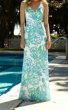 Lilly Pulitzer Aster Crochet Maxi Dress in Northeast Hahbah