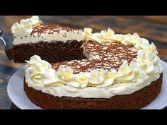 Žiadne vajcia a pochúťka ako hrom: Táto čokoládová torta s vanilkovým krémom patrí medzi hviezdy každej oslavy! Napoleon Cake, Honey Cake, Kefir, Cheesecakes, Chocolate Cake, Carrots, Pie, Desserts, Food
