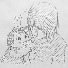 Sarada and Sasuke Uchiha Sasuke Uchiha, Boruto And Sarada, Sasuke Sakura Sarada, Sasunaru, Anime Naruto, Naruto Shippuden, Narusasu, Anime Family, Naruto Family