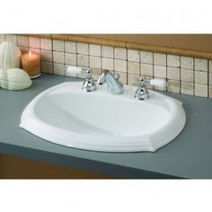 Porcelain bathroom drop in sinks are quite durable but better than them are the drop in bath sinks. They are easy to install and less expensive than other porcelain bathroom sinks available. Drop In Bathroom Sinks, Porcelain Ceramics, Basin, Faucet, Sheffield, Home Decor, Decoration Home, Room Decor, Water Tap