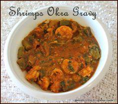 Mahaslovelyhome : Prawns okra gravy/Shrimp bhendi gravy with coconut milk/step by step pictures/Prawns recipes/south indian spicy non vegetarian gravy recipes