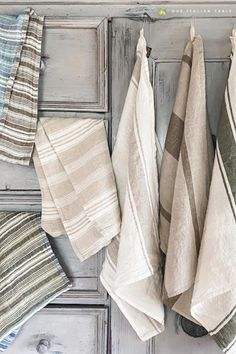 Shop artisan made linen kitchen towels from Italy. Choose from stripe patterns, olive motifs, vegetable gardens, colorful fish & more. From $20 these make a great small gift, or a great gift for a special someone paired together in a set of 3. #linentowels #kitchentowels #kitchentowelgift #giftsforcooks #giftsforchefs #kitchendecor #giftideas #hostessgift #hostessgifts #hostessgiftideas #artisanmade #madeinitaly #italiangifts #linen #stripedtowel #stripedtowels #supportsmallbusiness…
