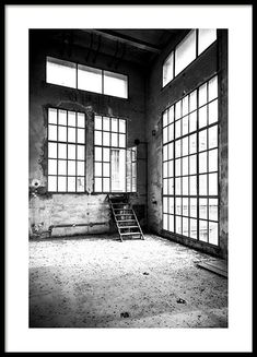Abandoned Building Poster i gruppen Posters / Fotokonst hos Desenio AB Abandoned Buildings, Modern Art Prints, Wall Art Prints, Gold Poster, Window Poster, Buy Posters Online, Nyc Subway, Nordic Interior, Inspiration Wall