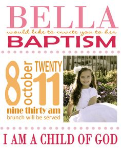 Baptism/party invitation