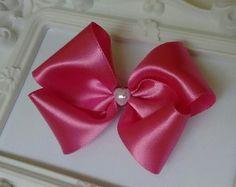 Laço clássico 8 cm Rosa