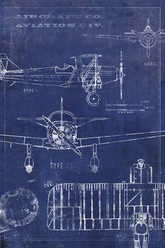 Curtiss p40 wwii airplane blueprint art version b by scarletblvd airplane blueprint malvernweather Image collections