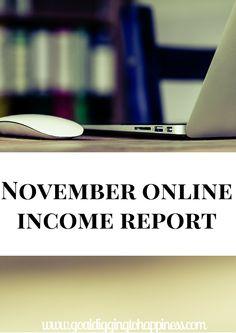 November Online Income Report