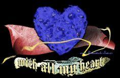 With all my heart - kann als T-Shirt Design, als Design für Karten oder Webseiten verwendet werden.