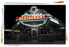 Arcade Restaurant. Classic Diner feel. Memphis' oldest restaurant. Has been featured in at least 4 national magazines and 8 movies.