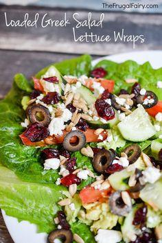 Loaded Greek Salad Lettuce Wraps | The Frugal Fairy