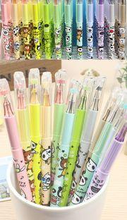 Kawaii panda and bear crystal gel pens 12 colours