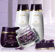 Royal Velvet... Oriflame Beauty Products, Natural Cosmetics, Perfume Bottles, Velvet, Cream, Sweden, Makeup Lips, Fur, Make Up