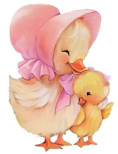 EASTER DUCK AND DUCKLING