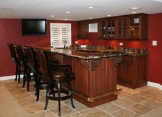 Basement Bar Pictures | Custom Basement Bars