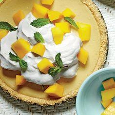 Mango-Lemon-Buttermilk Icebox Pie