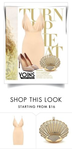 """""""YOINS CONTEST: SHELL CLUTCH BAG IN GOLD SEQUIN"""" by elena-indolfi ❤ liked on Polyvore"""