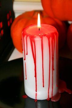 Blutende Kerze für Halloween - so geht's ...  Diese und andere Anleotungen rund um Halloween gibt es bei Hallo-Eltern.de