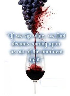 If we sip the wine, we find dreams coming upon us out of the imminent night. Wine Mixed Drinks, Wine Images, Wine Quotes, Wine O Clock, Wine Time, Wine Cellar, Thought Provoking, Grape Vines, Wines