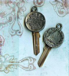 serenity prayer key blank by keystomycastle on Etsy