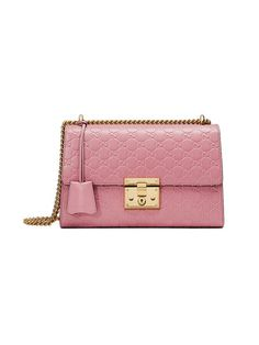 GUCCI Padlock Gucci Signature Shoulder Bag. #gucci #bags #shoulder bags #hand bags #lace #suede #lining #