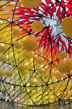 Lantern display in Hong Kong during Mid Autumn Festival. #midautumnfestival