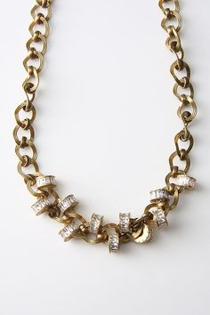 "28"" Link Necklace in Antique Gold by MoMo's March at TAGS.COM"