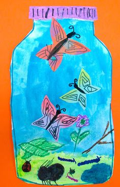 Ms. Kral's Art Room: 2nd Grade Symmetry Bug Jars