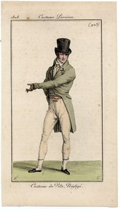 Odd cropped trousers. Costume parisien, 1808