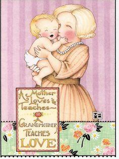 Mother Loves & Teaches A Grandmother Teaches Love Magnet Mary Engelbreit Artwork