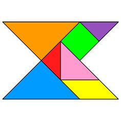 Tangram Concave polygon - Tangram solution #153 - Providing teachers and pupils with tangram puzzle activities