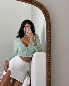 Adrette Outfits, Retro Outfits, Girly Outfits, Cute Casual Outfits, Fashion Outfits, Teenager Outfits, Fasion, Mint Green Outfits, Vintage Outfits