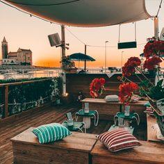 Il vecchio e il mare -  terrazza sul mare - Sunset - Trani - Puglia - restaurant Terrazzo, Design