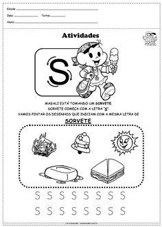 Atividades com alfabeto turma da monica letra S Education, Comics, Maria Clara, Fictional Characters, Letter N Activities, Abc Centers, Language Activities, Initials, Cartoons