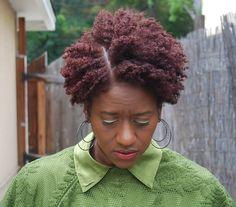 colored natural hair