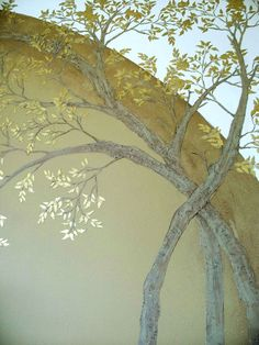 Our Raised Plaster Arched Tree Stencil Set was created to give the appearance of arched or bending trees on your walls.    An arched trunk