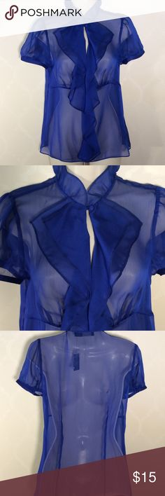 THE LIMITED ROYAL BLUE SHEER TOP The Limited Sheer Top ➖ side zipper for easy on & off ➖ ROYAL BLUE The Limited Tops