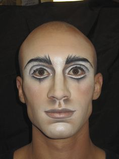 Cirque du Soleil, Zarkana, character Musician. Make up design by Natalie Gagne, applied by Kathleen Price.