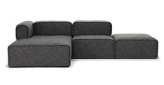 Quadra Carbon Gray Left Sectional - Sectionals - Article | Modern, Mid-Century and Scandinavian Furniture